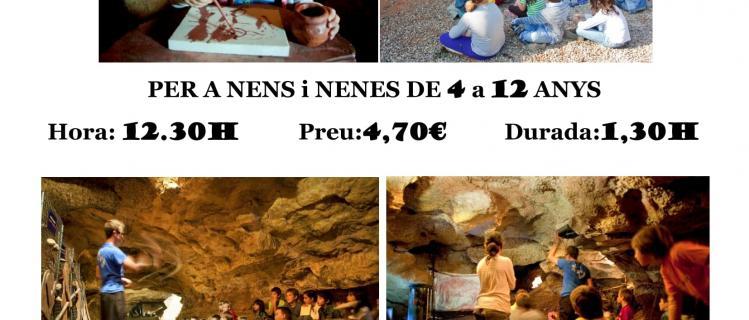 Tallers de prehistòria a les Coves de l'Espluga