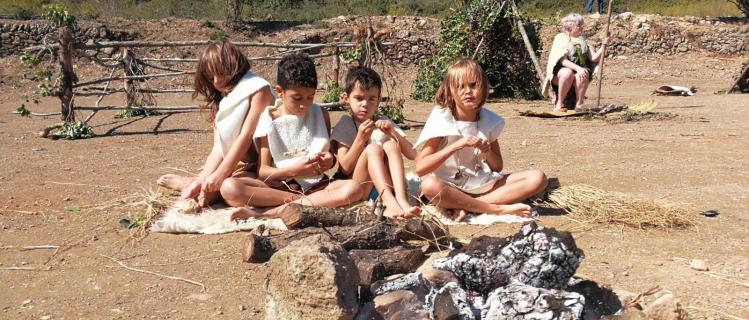 La gent de la Cova del Gat a Figuerola del Camp