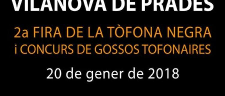 Fira de la tòfona negra i concurs de gossos tofonaires a Vilanova de Prades