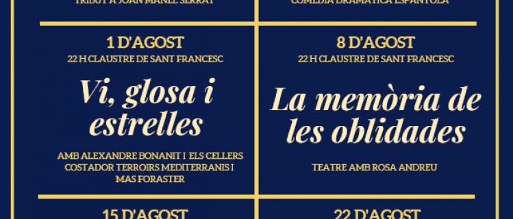 Música, estrelles, cinema, teatre i màgia a les nits d'estiu a la fresca a Montblanc