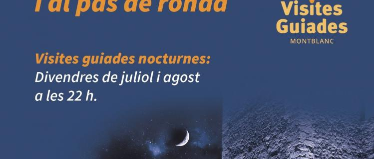 Visita guiada nocturna a Montblanc