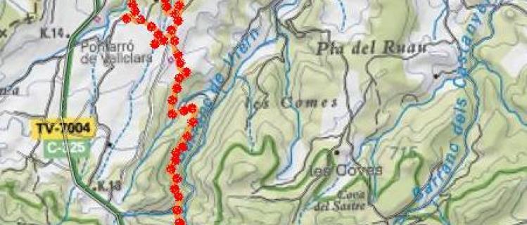 Camí al molí i bassa de Viern - VALLCLARA