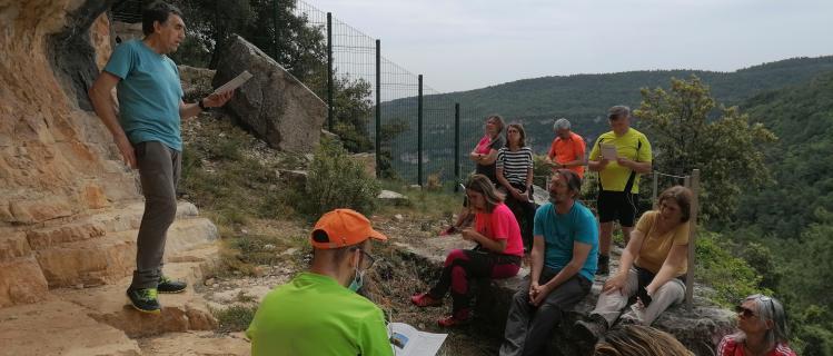 Tornen les visites a les pintures rupestres de Mas d'en Llort a Montblanc