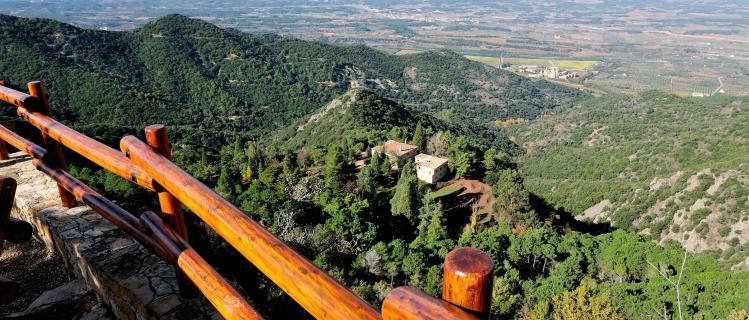Montañas de Prades y el bosque de Poblet