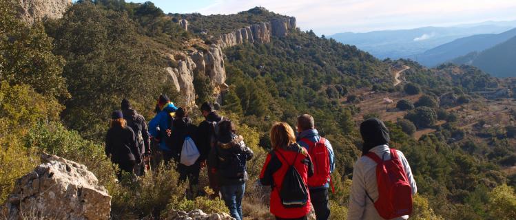 Camí als Calaixos de l'Ereldo i la Punta Curull a Vilanova de Prades